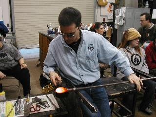BCCC Glassblowing Class Karl Carter Demo