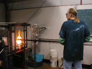 Glassblowing with Fused Cane 03