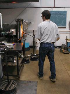 Glassblowing with Fused Cane 06