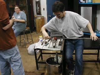 Glassblowing with Fused Cane 14
