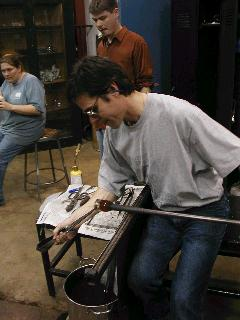 Glassblowing with Fused Cane 15