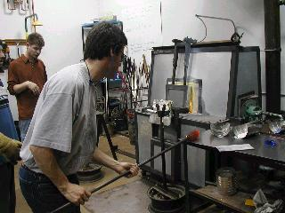 Glassblowing with Fused Cane 24
