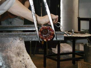 Glassblowing with Fused Cane 26