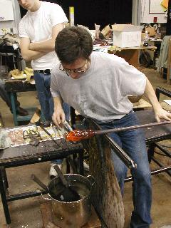 Glassblowing with Fused Cane 40