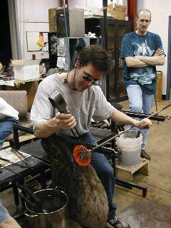 Glassblowing with Fused Cane 54