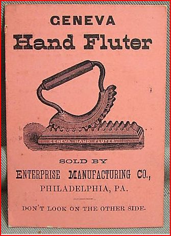 Glassblower.Info Glassblowing Fluter 1876 Advertising Card - Back