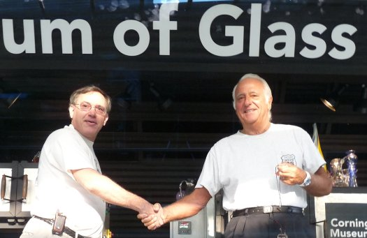 Elio Quarisa and Tony Patti at Glass Art Society (GAS) 2009 Conference at Corning Museum of Glass (CMOG