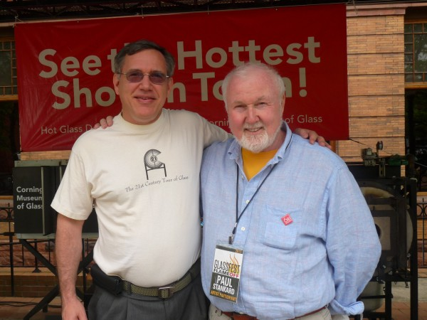 Paul Stankard and Tony Patti at GlassFest 2011 in Corning NY