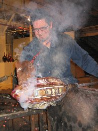 Mark Hall - Hallmark Art Glass - Kiln-formed Cylinders to Blow Out - Photo #7
