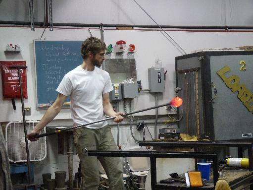 Glassblower.Info - BCCC Glass Arts Society - Spring 2011 - Guest Glass Artist Nikolaj Christensen - Merletto Pitcher - 07